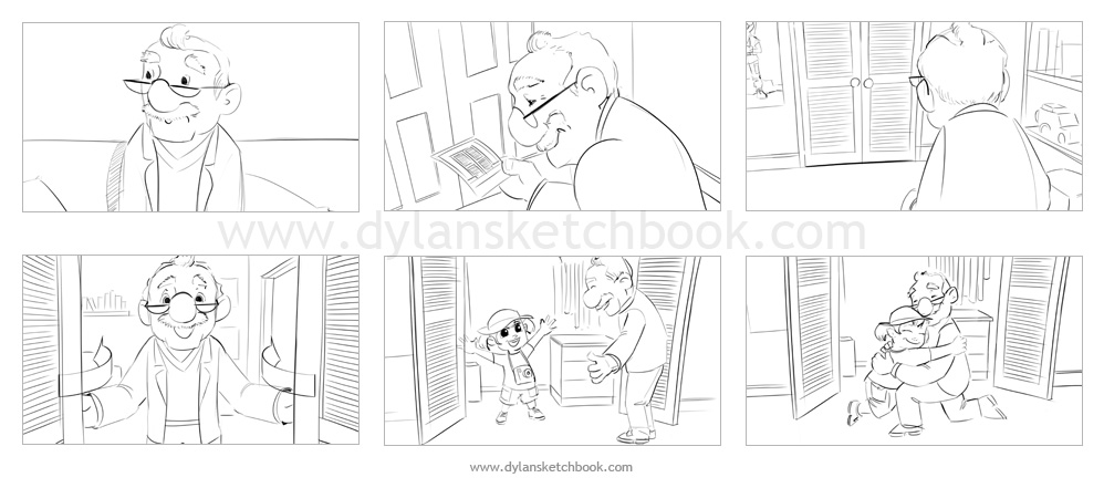 Fuji Officeworks Animation Storyboards