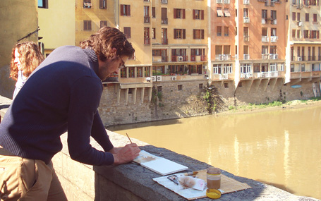 Sketching in Florence, Italy