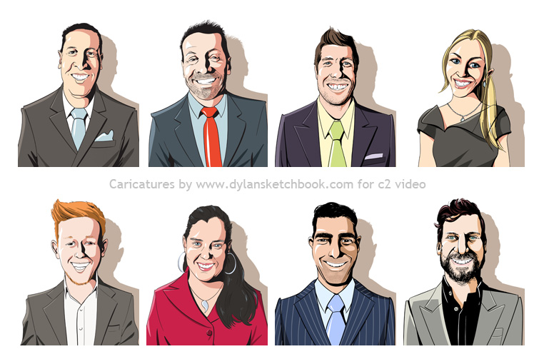 Staff Caricatures by Dylan Shearsby